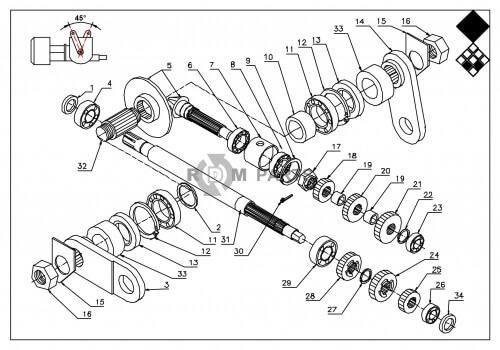 ᐅ • Verti Drain 7621(H) Onderdelen Basismachine onderdelen