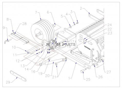 Vertidrain 7526(H) basic machine parts