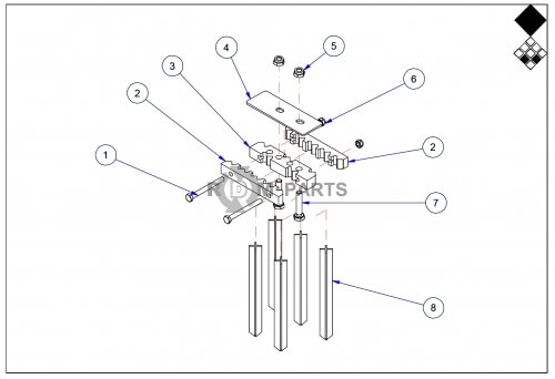 Vertidrain 7117 Basic machine parts