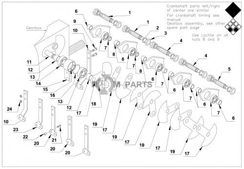 u1405  u2022 verti drain 7117 onderdelen basismachine onderdelen