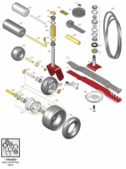 Toro Rotary mowers Groundsmaster 223D parts - RDM Parts