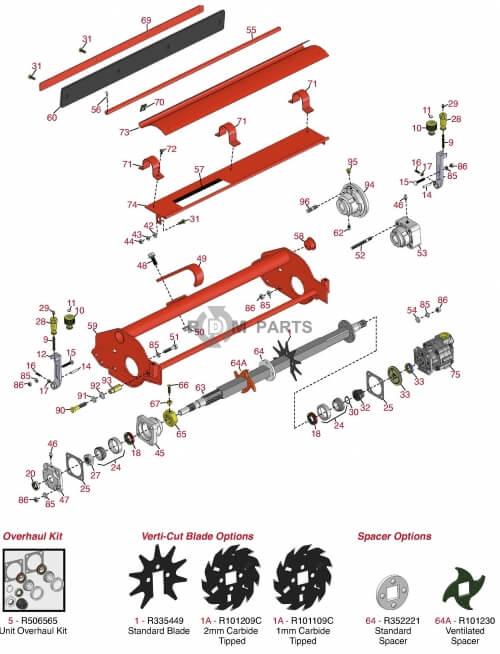 Jacobsen LF100 parts - RDM Parts on
