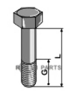Hexagon bolts with metric fine thread - M16x1,5 - 12.9 - 808-51-1652