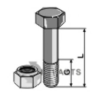 Bolt with self locking nut - M12x1,75 - 8.8 - 808-63-1225