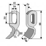 Brigade-Fräsmesser geeignet für 01.086.06 von Bomford - 808-63-BOM-56