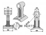 Pruning hammer fitting for 71.913.20 from Mc Connel - 808-63-BOM-80