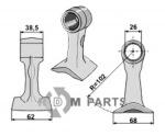 Schlegel geeignet für 0990501 (Alt) 46399.01 (Neu) von Bomford - 808-63-BOM-83