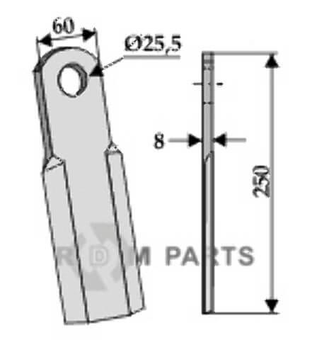 Straight blade - 808-63-FEI-09