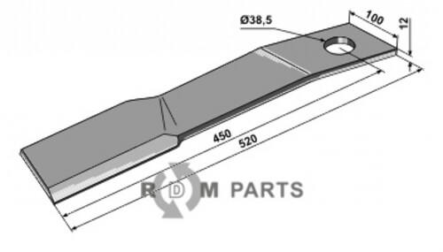 Messer - links geeignet für Schulte 401067 - 808-63-IND-1357L