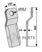 Comminution blade - 808-63-IND-141