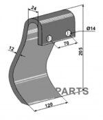945000555 klepels passend voor Ducker machines - 808-63-IND-196