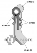 Flail assembled with holder, bush and blade - 808-63-NIC-00