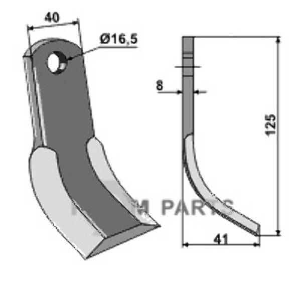 Y-Messer geeignet für Nobili 19813-1781000 - 808-63-NOB-41