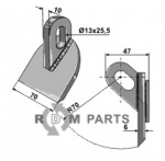 Pruning hammer fitting for MU4 Lang from Muthing - 808-63-RM-806