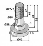 Pin for assembling with 1 blade - 808-63-SCH-93