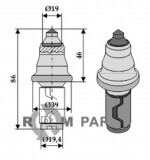 Round attrack tick for street trencher with hardmetal - 808-635-0036