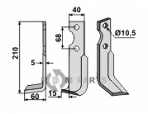 Fräsmesser, linke Ausführung geeignet für Benassi RL303-304 - 6CM0116 - 808-BEN-27L