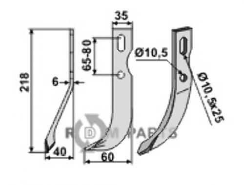 All-purpose blade, left model - 808-BEN-52L