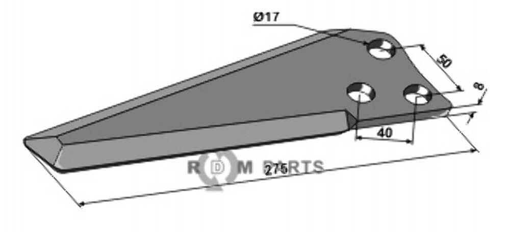 Knives passend voor 1900100 van Mc Connel - 808-IND-1578