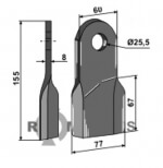 Flail, right - 808-IND-24-R