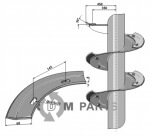 Snail segment - right model - 808-IND-84B