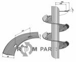 Snail segment - left model - 808-IND-84BL