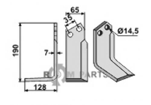Blade, left model fitting for Krone 0354351 - 808-KRO-02L
