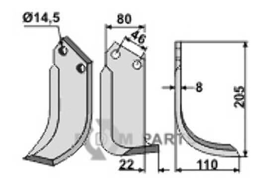 Blade, right model - 808-MAL-01R