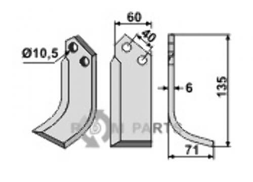 Blade, right model - 808-NAR-05R