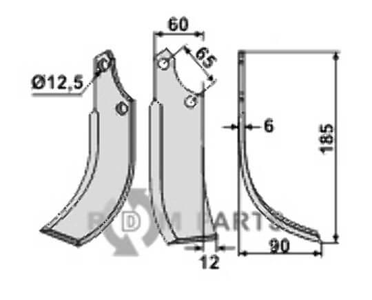 Blade, right model - 808-ORT-02R