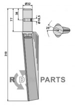 Tine for rotary harrows, left model - 808-RH-35-L