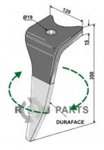 Tanden voor rotorkopeg (DURAFACE) - rechter model - 6170300 - 808-RH-92-R-DURA