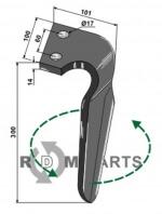 Tine for rotary harrows, left model - 808-RH-ALP-06L