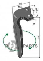 Tine for rotary harrows, right model - 808-RH-ALP-08R
