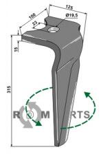 Tines for rotary harrows, left model - 808-RH-ALP-20L
