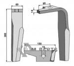 Tanden voor rotorkopeg, rechter model - 954426 - 808-RH-AMA-04R