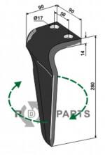 Rotorkopegtand, Rechter model passend voor 38100222 van Machio - 808-RH-MAS-51R