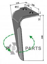 Tine for rotary harrows, left model - 808-RH-RAU-07L