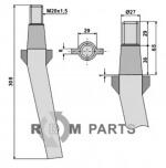Tine for rotary harrows - 808-RH10