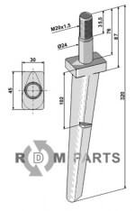 Tine for rotary harrows - 808-RH130