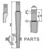 Tine for rotary harrows - 808-RH27