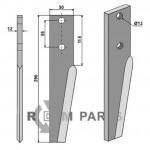Tine for rotary harrows - 808-RH36