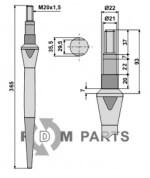 Tine for rotary harrows - 808-RH43