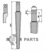 Tine for rotary harrows - 808-RH47