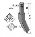Rotary tine - right model - 808-RH551