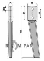 Tine for rotary harrows - 808-RH88