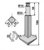 Rotary-tine - 808-RH90