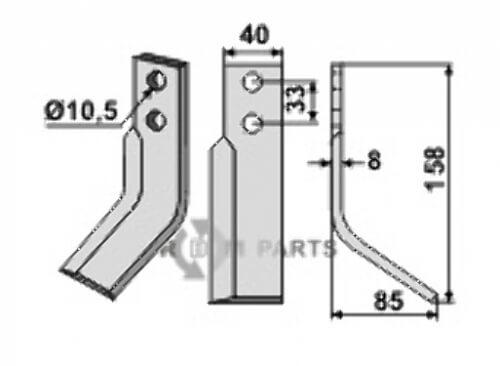 Blade, right model fitting for Zappator Z2-Z3 - 808-ZAP-06R