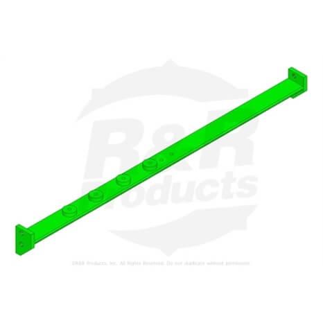 Rear crossbar - 26 in - green - R1000021G