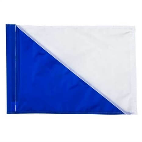 FLAG - BLUE/WHITE DIAG TUBE SET/9 - R422